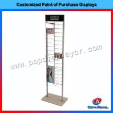 2017 New product for glasses showroom floor stand sunglass display rack