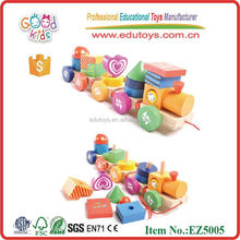 Wholesale Geometric Shape Learning Educational Toys Train for baby