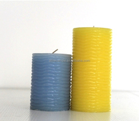 Designed aromatherapy home decorative art pillar candle / bougie