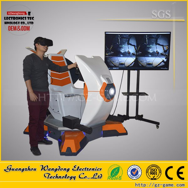Easy installation vr Space Fighter ship 9d cinema the technology products