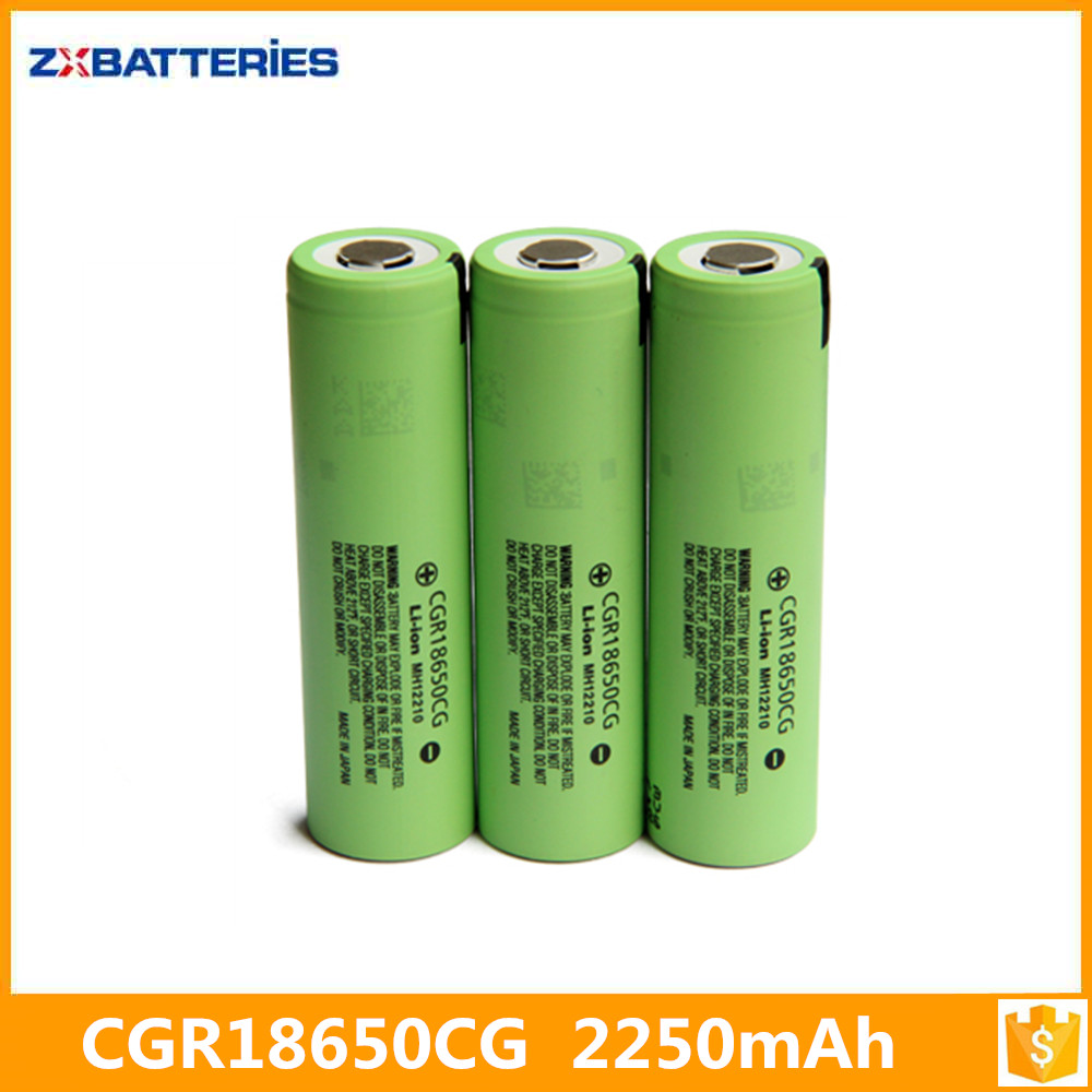 cgr 18650 ce li-ion cgr18650cg mh12210 laptop battery cell price 3.6V 2250mAh li ion cgr18650cg for laptop