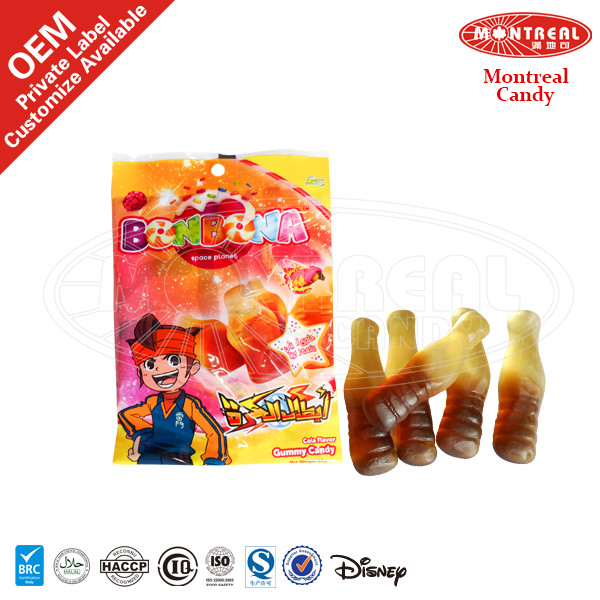 5136 Cola Flavor Sweet Gummy Candy With Halal