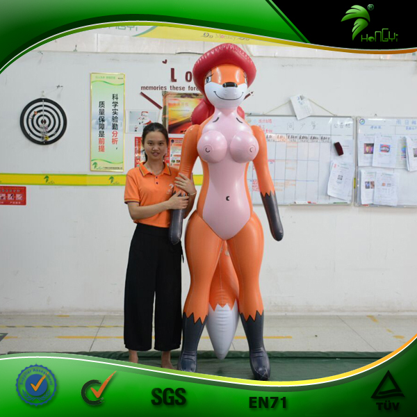 Inflatable Cartoon Sexy Fox Inflatable Man Sex Toy Animal Mascot SPH Doll