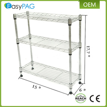 Top quality multifunction 3 tier any stop metal wire rack shelf