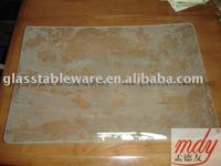 Frosted tempered glass plate