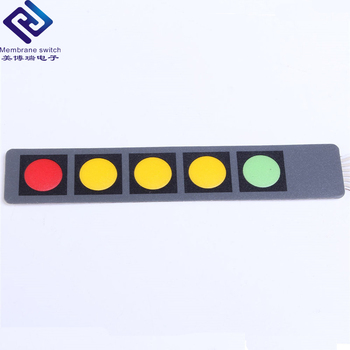 5 Keys Polycarbonate Control Panel Membrane Switches With One LED