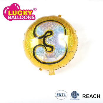 Wholesale advertising 18 inch laser round party balloon