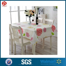 Cheap Disposable PEVA Colorful Table Decorative Cloth Fitted Plastic Table Cover