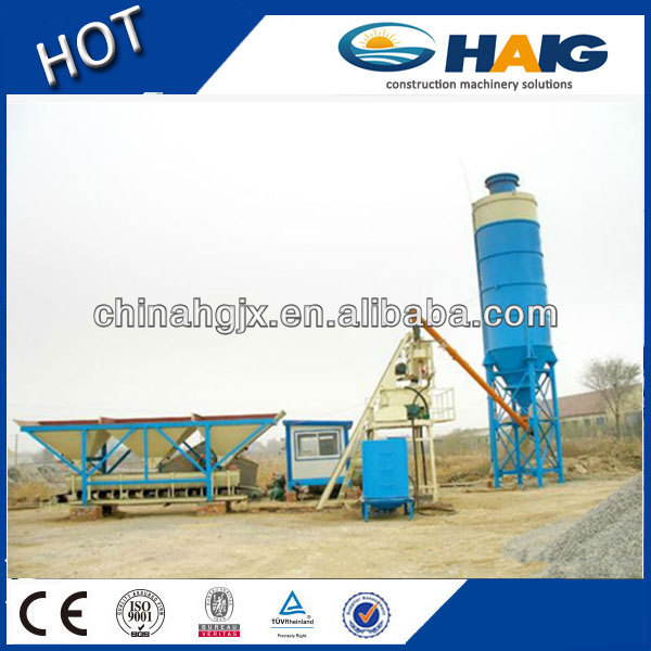 China made 25m3/h stationary HZS25 mini concrete batch plant cement mixing plant with CE and ISO9001