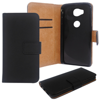 Book style Stand Wallet Flip PU Leather mobile phone Case for Huawei Honor 5X Pouch Plain / Lichee pattern