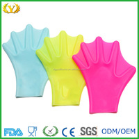 Eco-friendly custom water sport equipment silicone webbed gloves for diving training