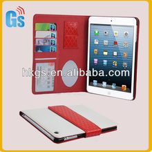 Hot! Fashion Credit Card Slot Holder Flip Leather Wallet Case Cover Pouch For Ipad Mini