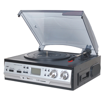 New USB Bluetooth Vinyl Suitcase Style Turntable Record Player