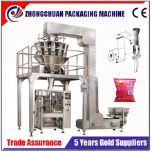 vertical type automatic nitrogen flushing food packaging machine with multi-head scales