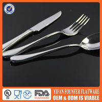 high -grade stainless steel fork knife tableware set