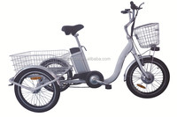 Cheap three wheel electric bike made in China Tricycle with F&R basket