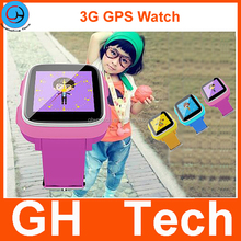 GH Kids Soft Silicon Smart 3G GPS Watch with Bluetooth anti lost,LBS GPS Tracking Two ways call Functions G-W301S