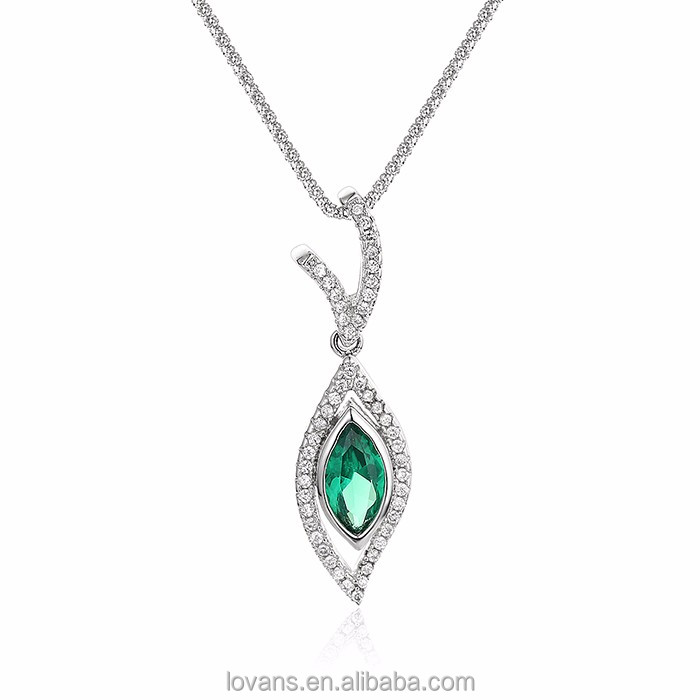Wholesale Costume Emerald Pendant Jewellery