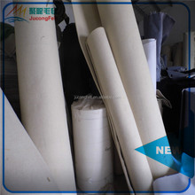 White thick 100% wool felt material felt roll industrial felt for wholesales