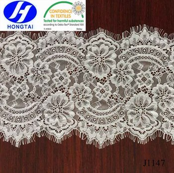 Wholesale Good excellent quality bulk quantity Elastic Eyelash Lace Fabric for nice dressing 2017