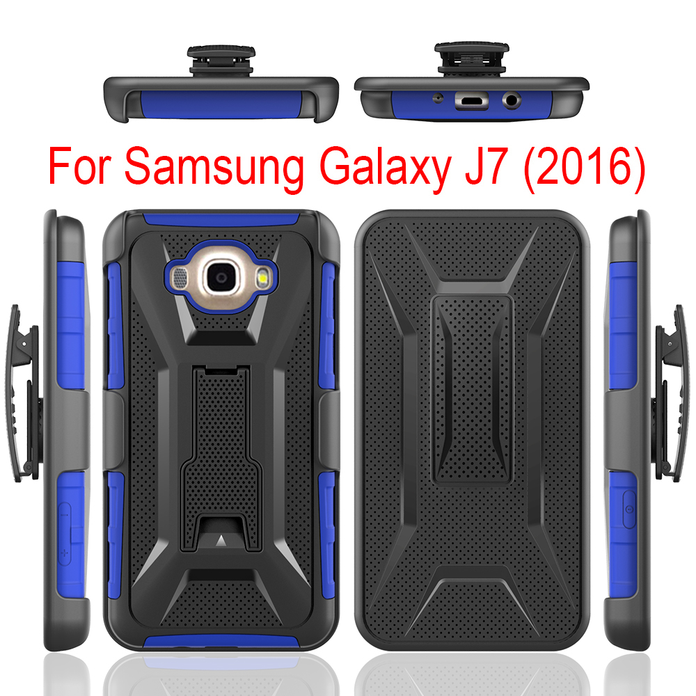 3 in 1 Case Ultra Thin Kickstand Case For Samsung J7 2016,T Type Stand Silicone+PC Case For Samsung J7 2016