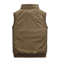Quality Custom Printed or Embroidery sleeveless vest coat for men