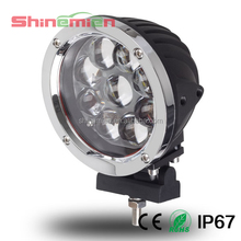 1x60W CREE High Power Round LED Driving Work Light For SUV Truck Tractor Boat