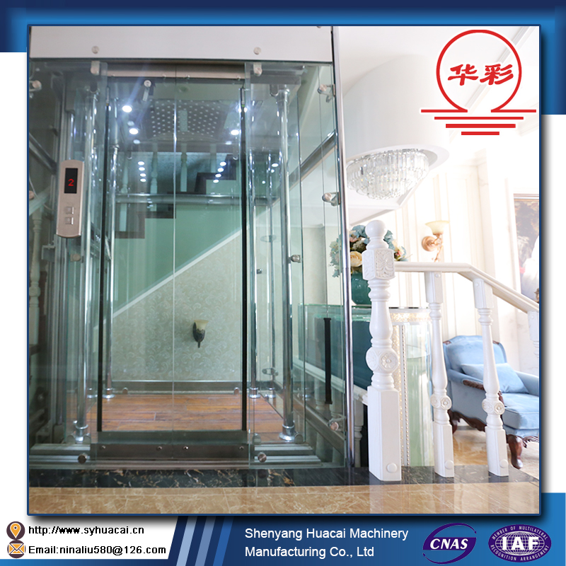 HC-320 factory price SGS electronic display commercial outdoor home elevator lift