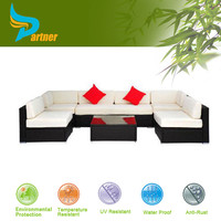 Hot Sale UV-Resistant Hand Living Room PE Benchcraft Cheap Garden Bali Rattan Outdoor Furniture Braided Rattan Set