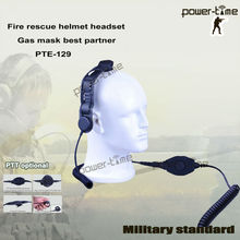 Light weight motorcycle helmet two way radio headset with skull bone conduction microphone for SWAT PTE-129