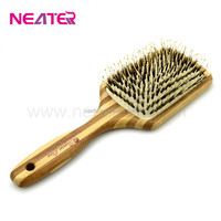 Hot sale well design square head Wooden Straightening handle Hair Brush