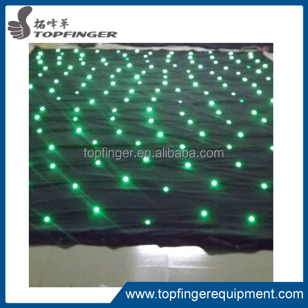 Green/ white/ blue light drapery Wedding concert event twinkling LED starling drapery