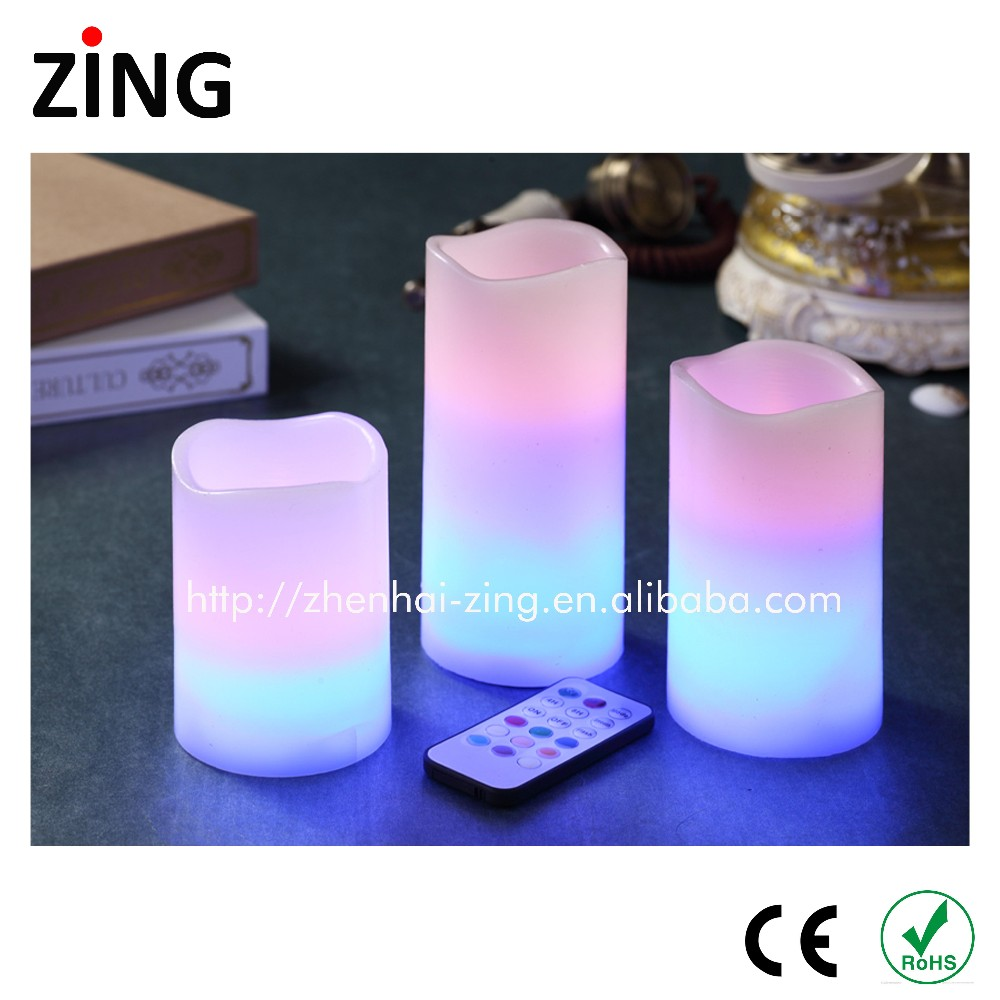 wholesale ivory flameless pillar candles led candle With Good Service