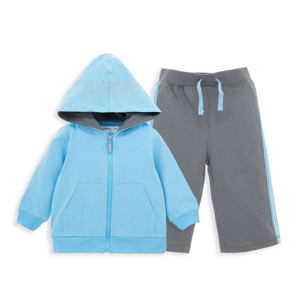 New Arrival Sport Clothes Set Coat and Pants 100% Cotton Long Sleeve Kids Clothes