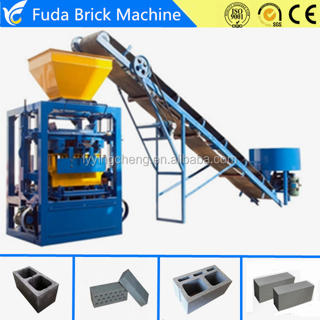 Semi Kenya Automatic Beton Hollow Block Molding Machine Pavement Brick Machine