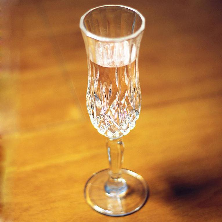 High quality cylinder champagne glass for sale
