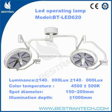 BT-LED620 Spot diameter 150-300mm,illumination depth 900mm low price surgical cold light led operating lamp manufacturers