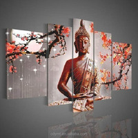 factory price shopping printed canvas fabric buddha painting pictures