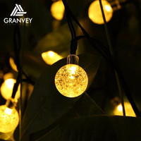 colour changing outdoor decorative ball shape addressable led christmas light solar