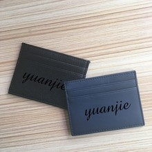 wholesale factory mini faux leather name student id bus card holder