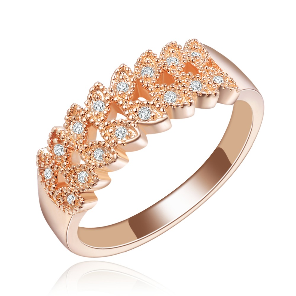 Zircon ring high-grade fashionable orange rose gold plating <strong>R134</strong>