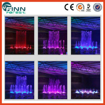 Musical LED fountain programmable round shape water outdoor dancing fountain