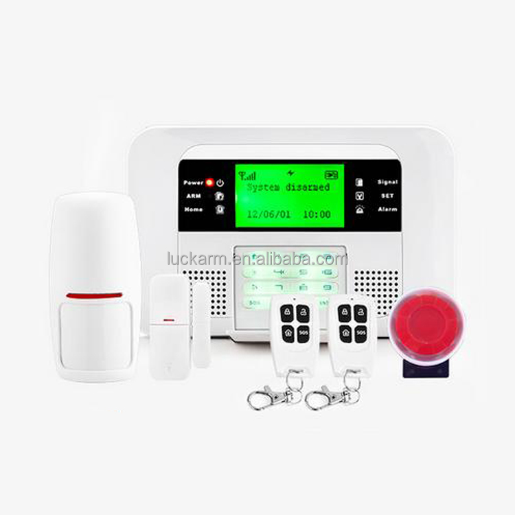 Best 2G smart wireless home security burglar GSM+PSTN alarm system