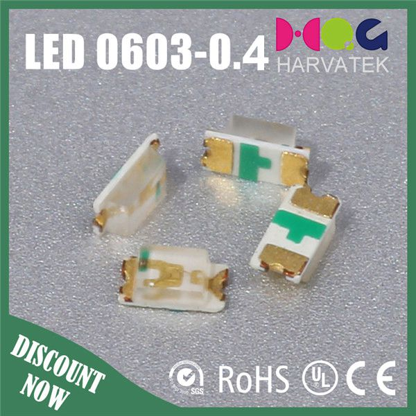 Water Clear Flat Mold 1.8-2.6V 0603-0.4T High Bright Red LED DIODES