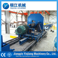 High precision control flying saw for steel pipe mill