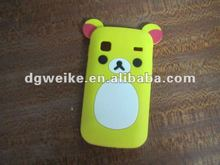 bear shape silicone mobile phone case