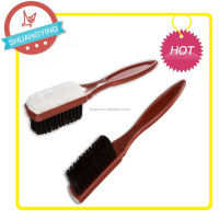 Double Side Suede Shoe Brush with plastic handle and PET hair SY3400