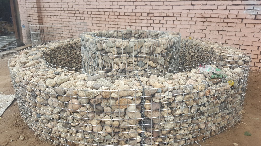 Construction 50x50x100cm gabion basket box with spring connection