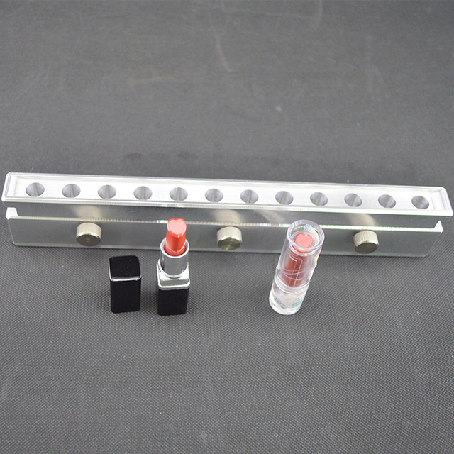 Customized Heart shape 12 Cavity Metal Cosmetic Molds For DIY Lipstick Filling For Sale
