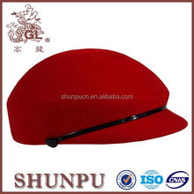 Wholesale beret hats high quality 100% wool red beret hat